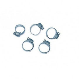 Lot de 5 colliers de serrage en metal 13 - 23 mm