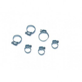 Lot de 6 colliers de serrage en metal 9 - 18 mm , 13 - 23 mm , 14 - 27 mm