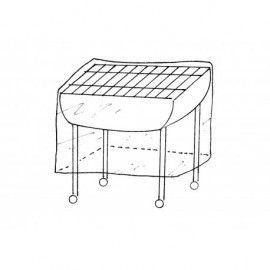 Housse de protection renforcee pour barbecue moyen modele - 90x70x H70cm