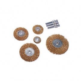 Set de 5 brosses rotatives en acier