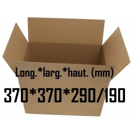 Carton caisse américaine double cannelure 370*370*290/190