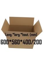 Carton caisse américaine double cannelure 600*560*400/200