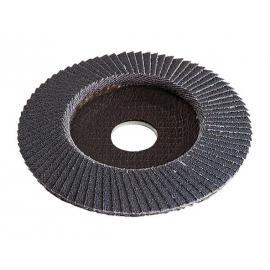 Lot de 3 disques à lamelles corindon incurvées 125 mm - Grain 40